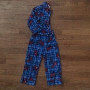 Other - Blue Spider-Man flannel PJs